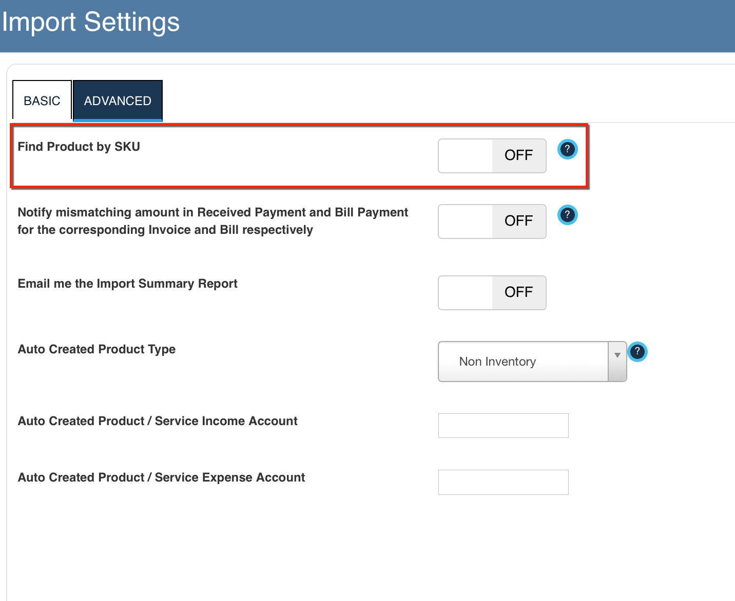 Import Your Transactions using PRODUCT SKU